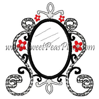 Magic Mirror Applique Embroidery Design