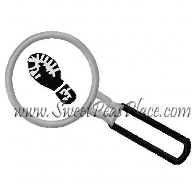 Magnifying Glass Applique Embroidery Design
