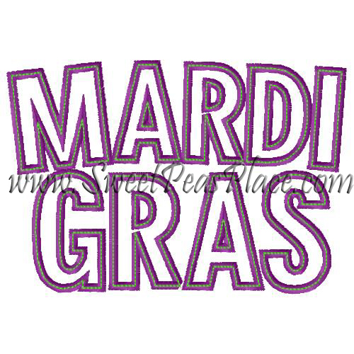 Mardi Gras Applique Embroidery Design