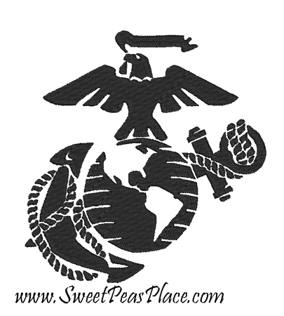 Marine Corps filled Embroidery Design