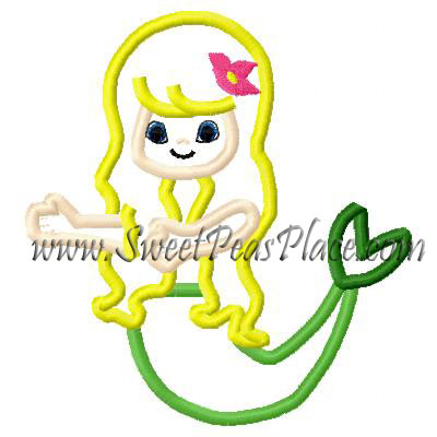 Mermaid 2 Applique Embroidery Design