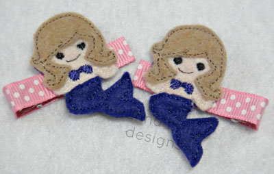 Mermaid for Felt Applique Embroidery Design