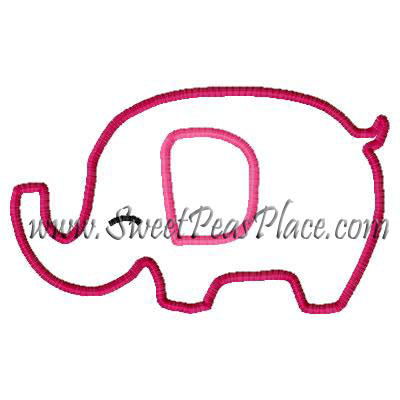 Elephant Merry and Bright Applique Embroidery Design