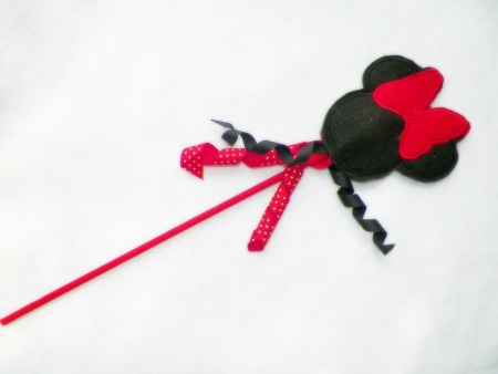 Girl Mouse Ears Wand in the Hoop Applique Embroidery Design