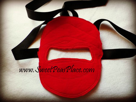 Ninja Mask in the Hoop Applique Embroidery Design