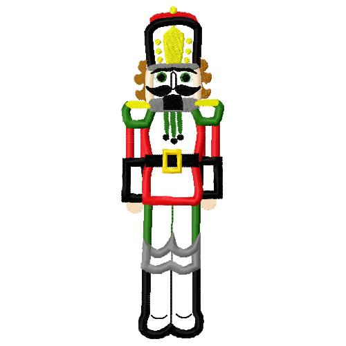 Christmas Nutcracker Applique Embroidery Design