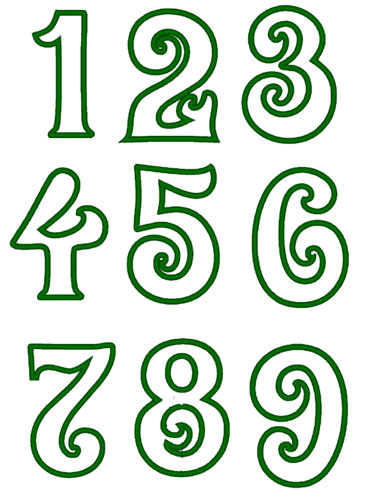 Swirly Number Set 1-9 Applique Embroidery Design