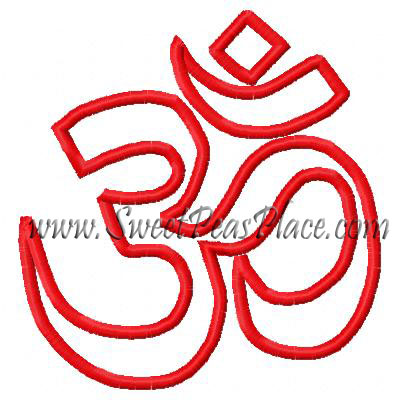 OM Applique Embroidery Design