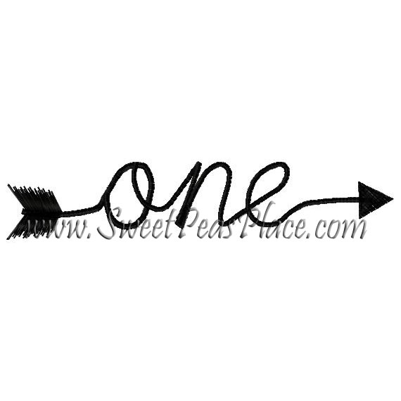One Arrow Embroidery Design