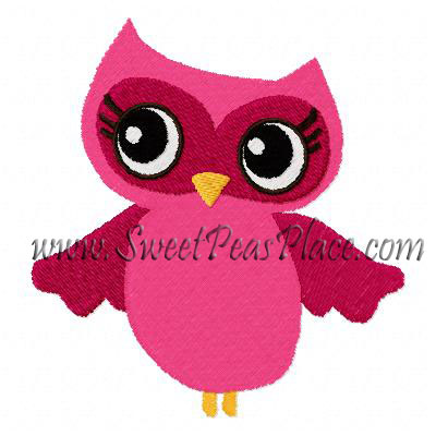 Fall for Autumn Owl Filled Embroidery Design inclu