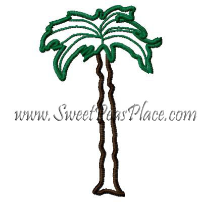 Palm Tree Embroidery Applique Design