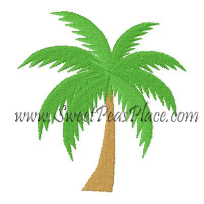 Palm Tree Filled Embroidery Design