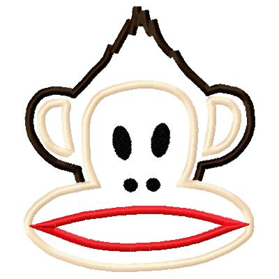 Monkey 2 Applique Embroidery Design