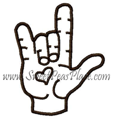 i Love You Sign Language Logo i Love You Sign Language
