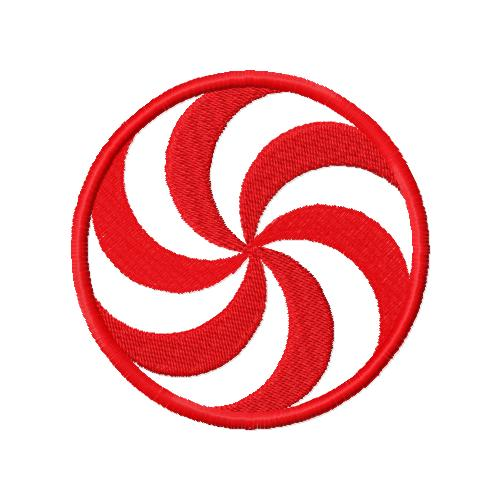 Peppermint Candy Applique Embroidery Design