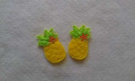 Pineapple with Flower For Felt Applique Embroidery Design