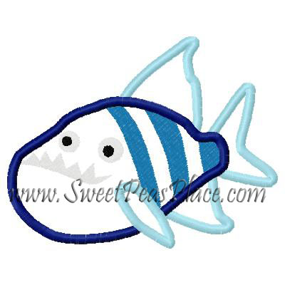Piranha Applique Embroidery Design