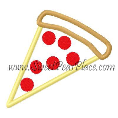 Pizza Slice Applique Embroidery Design