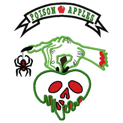 Poison Apple Applique Embroidery Design