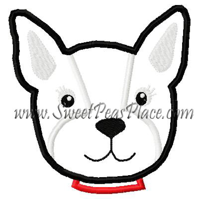 Poppy Love Puppy No Flower Applique Embroidery Design