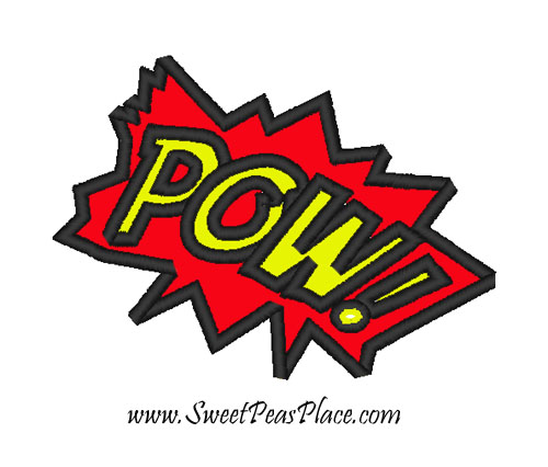 Pow Applique Embroidery Design