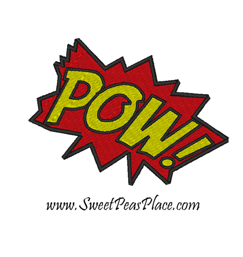 Pow Filled Embroidery Design