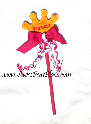 Princess Wand in the Hoop Applique Embroidery Design