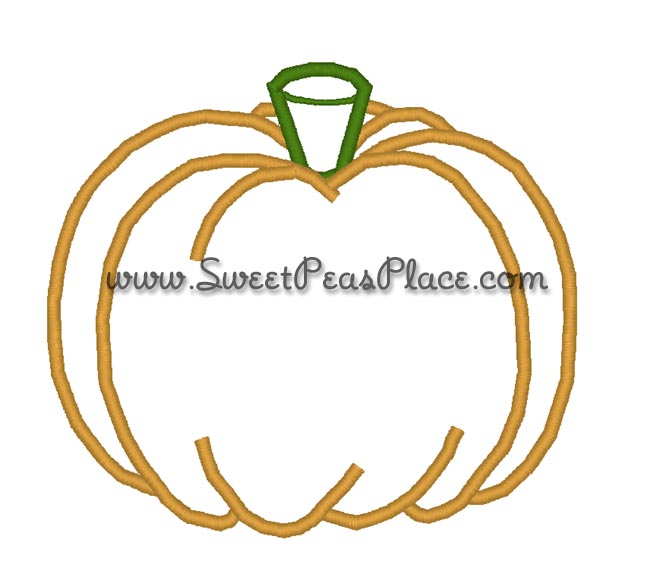 Plain Pumpkin Applique Embroidery Design