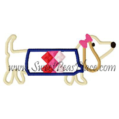 Puppy School Applique Embroidery Design
