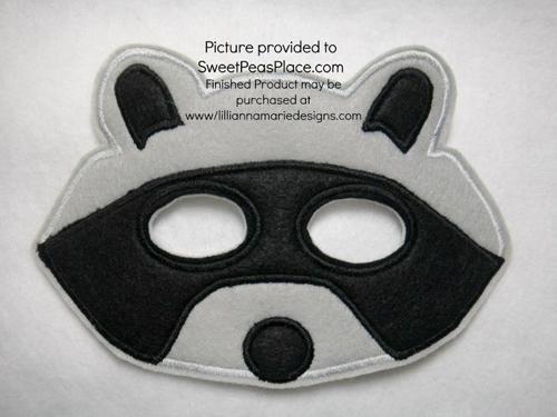 Masks/in the hoop, Raccoon Mask in the Hoop Applique