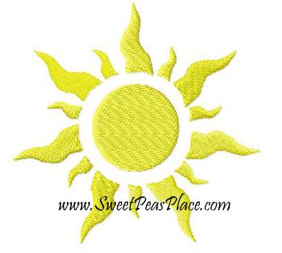 Sun Filled Embroidery Design