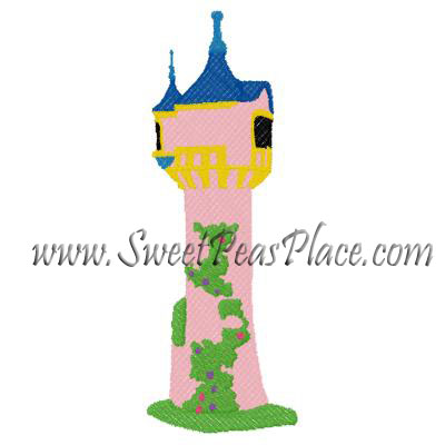 Princess Towel Filled Embroidery Design