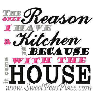The Reason Kitchen Embroidery Design