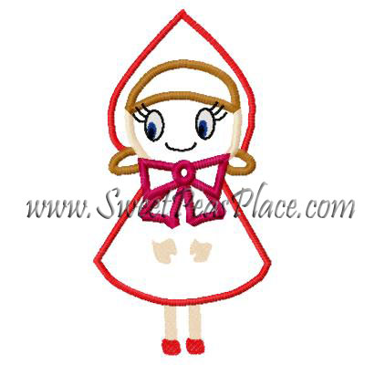Red Riding Hood Applique Embroidery Design