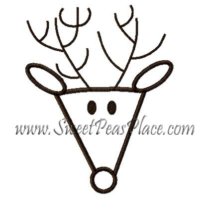 Reindeer 4 Applique Embroidery Design