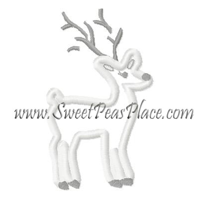 Fair Isle Reindeer Applique Embroidery Design