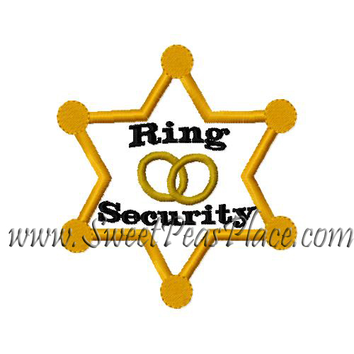 Ring Security Applique Embroidery Design