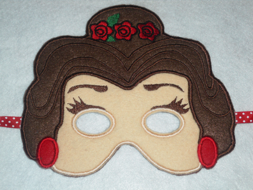 Rose Princess in the hoop Applique Embroidery Design
