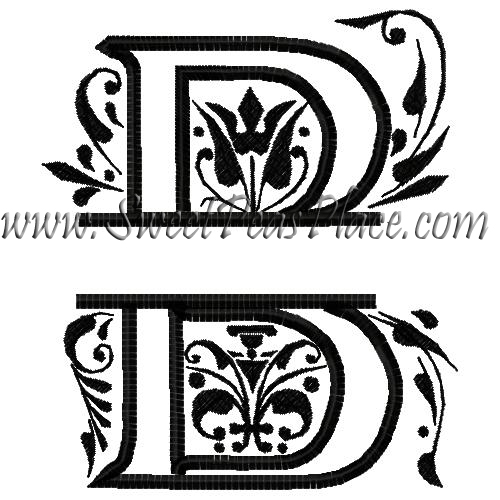 Royal Split B Applique Embroidery Design