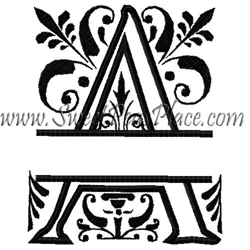 Royal Split A Applique Embroidery Design