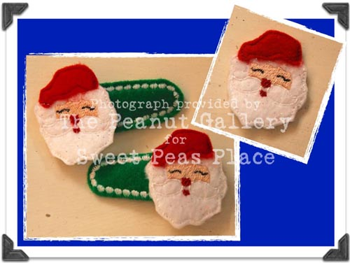 Santa for Felt Applique Embroidery Design