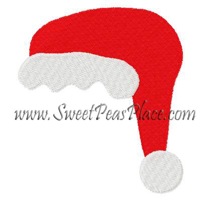 Santa Hat Filled Embroidery Design including Mini