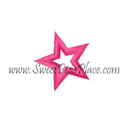 Satin Star Embroidery Design