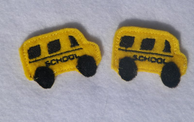 School Bus for Felt Applique Embroidery Design
