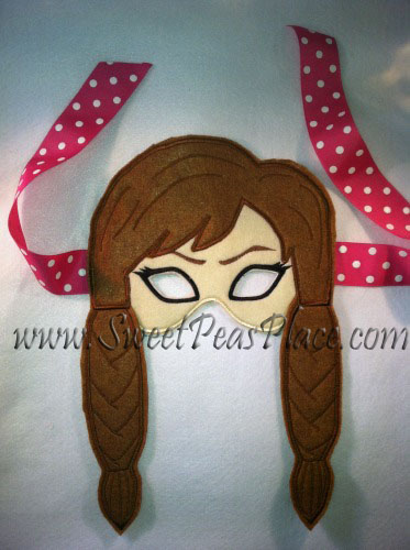 Sister Mask in the Hoop Applique Embroidery Design