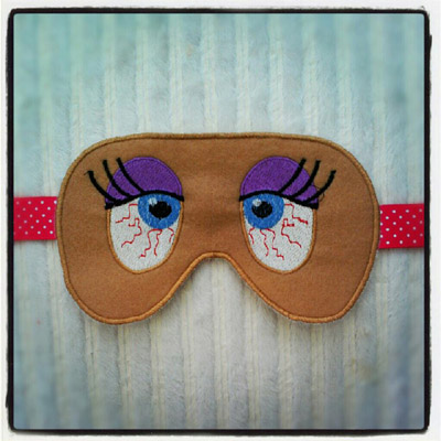 Sleepy Sleep Mask in the hoop Embroidery Design