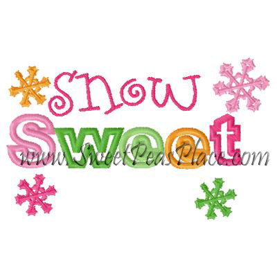 Snow Sweet Snowflake Embroidery Design