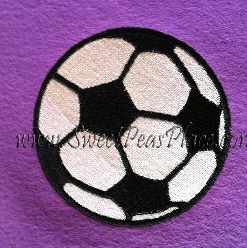 Soccer Filled Embroidery Design
