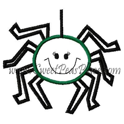 Silly Spider Applique Embroidery Design