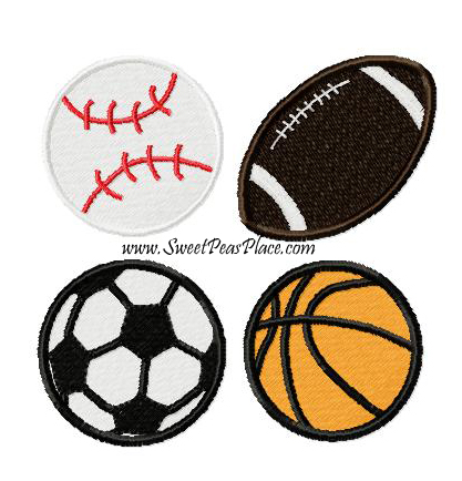 Sports Filled Embroidery Design